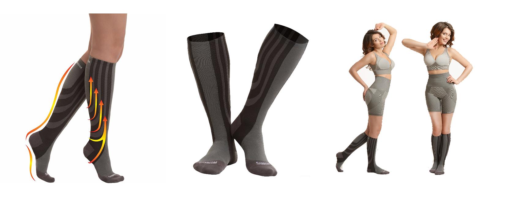 Sosete termice pentru remodelarea picioarelor